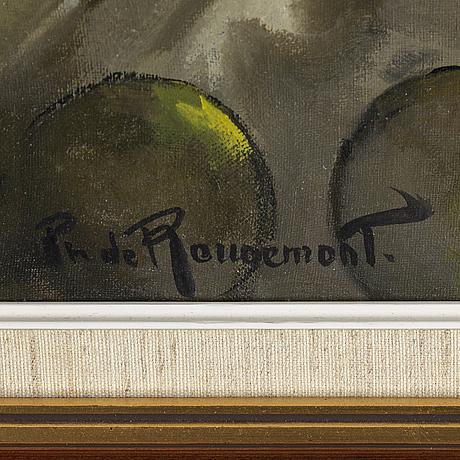 Philippe de rougemont, oil on canvas, signed.