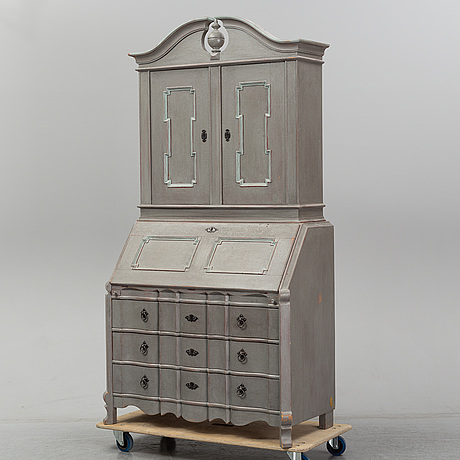 A 20th century painted cabinet.