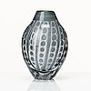 "Edvin Öhrström, an ""ariel"" glass vase, orrefors, sweden 1960."