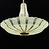 A swedish modern glass ceiling light, 1940's.