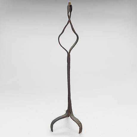 Rush light holder, ironwork, 18th century or older.