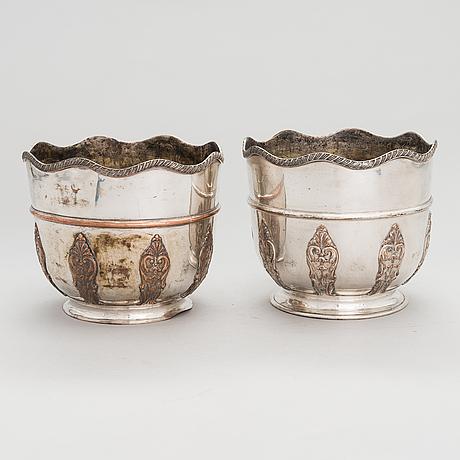 Champagnekylare, ett par, england, 1800-tal.