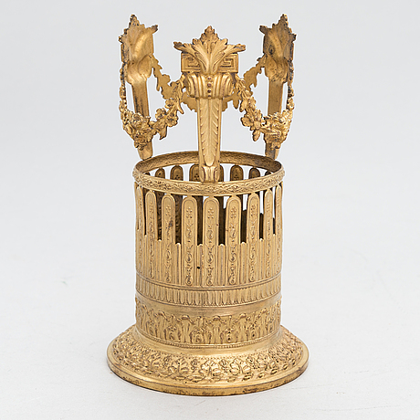 A french, louis xvi style ormolu wine bottle stand, first half of the 19th century.