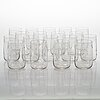 An 18-piece set of drinking glasses from the around 1910-1920s.