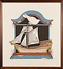 Raimo kanerva, serigraphs, set of 4, signed, dated -79 and numbered.