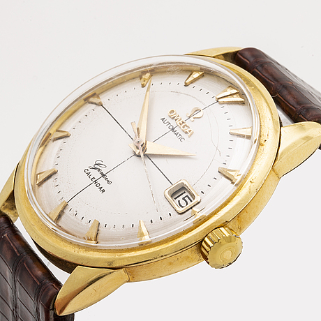 Omega, genéve calendar, wristwatch, 35 mm.