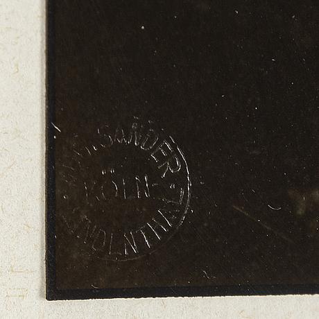"""August sander, photograph from the portfolio """"rheinlandschaften"""", signed by gunther sander and ed 52/75."""