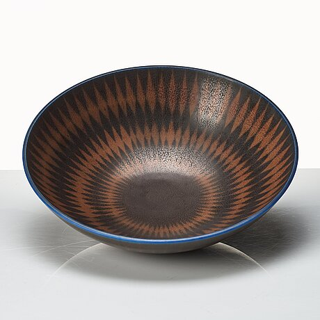 Berndt friberg, a stoneware bowl, gustavsberg studio, sweden 1966.