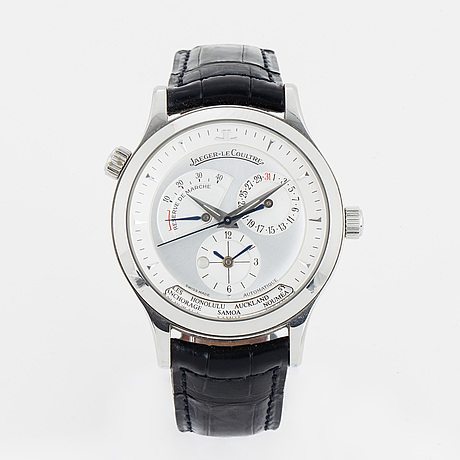 Jaeger-le coultre, master control geographic, wristwatch, 38 mm.