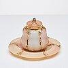 Fabergé, bläckhorn på fat, verkmästare michael perchin, s:t petersburg 1886-1895, ristat inventarie nr 43799.
