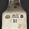Evald nielsen, a part 830/1000 silver fish cutlery, denmark (24 pieces).