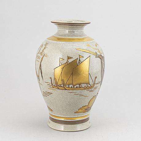 Royal copenhagen, urna, porslin, danmark.