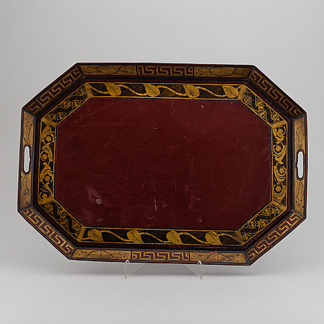 An empire painted tin tray, first half of the 19th century.