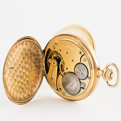 Omega, pocket watch, hunter, 50 mm.
