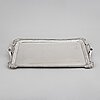 A russian 19th century silver tray, mark of gustav lindroos, moscow 1826.