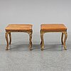 A pair of giltwood louis xv 18th century stools.