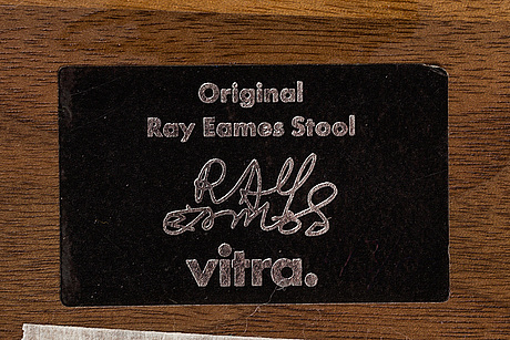 "Charles & ray eames, ""one time life"" pall, valnöt, vitra."