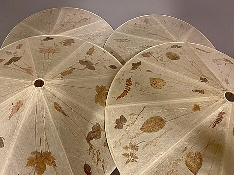 A set of four ceilng plafond shades vanja sorbon malmsten for carl malmsten.