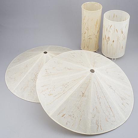 Vanja sorbon malmsten, plafonder, ett par, samt bordslampor, 2 st, carl malmsten.
