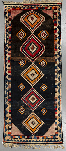 Matto antique gabbeh, ca 312,5 x 127,5 cm.