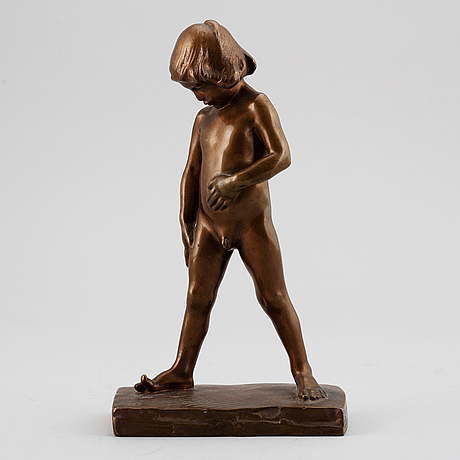 Christian eriksson, sculpture, bronze, signed arcueil and dated 1901.
