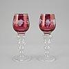 Remmare, 8 st, glas, 1900-tal.
