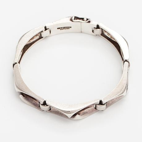 "Björn weckström, a sterling silver bracelet ""crisium"". lapponia 1978."