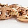 Armband, 14k röd- och gultguld. italien.