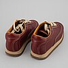 HermÈs, a pair of leather sneakers size 37.