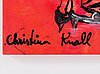 Christina knall, acrylic on canvas, signed verso. nubered 3/25.