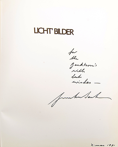 Seven photobooks, gunter sachs and one alexander sachs, 5 books signed and dedicated.