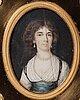 Unknown artist 18th century. miniature. unsigned. gouache on bone 6 x 4,5 cm (inc. frame  13,5 x 12 cm).