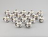 A set of 16 royal copenhagen custard cups with covers, denmark, 20th century.