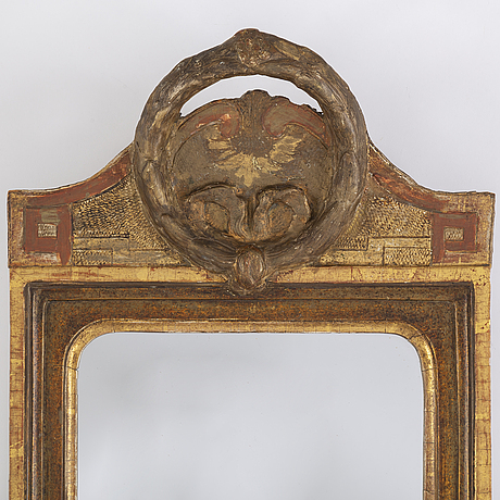 A gustavian late 18th century mirror by joseph schürer, active in stockholm 1760-1785.