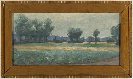 Gunnar g:son wennerberg, oil on canvas.