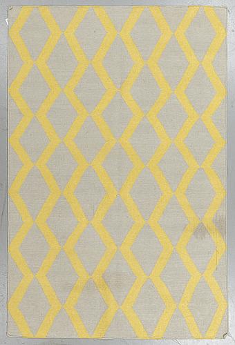 A rug, flat weave, ca  243 x 155 cm.