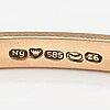A 14k gold bracelet with synthetic spinelles. ny toivo, helsinki 1953.