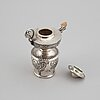 A norweagian early 20th century silver oil-lamp, marked thune.
