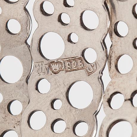 """Liisa vitali, a stelring silver bracelet """"pitsi"""". westerback, helsinki 1973."""