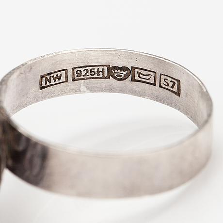 "Liisa vitali, a sterling silver ring ""leppäkerttu"". westerback, helsinki 1971."