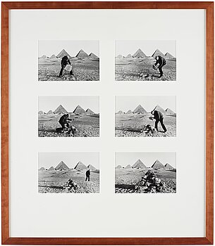 "319. Duane Michals, ""I Build a Pyramid"", 1978."