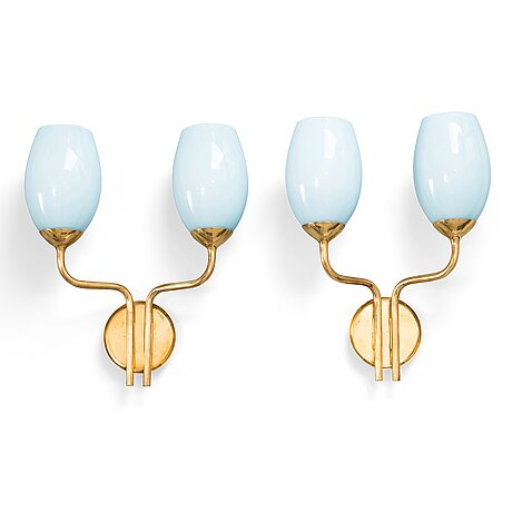 Paavo tynell, a pair of mid-20th century wall lights for taito.