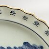 A blue and white dish, japan, 19th century.