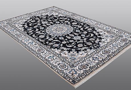 A carper, nain, part silk, ca  287 x 196 cm.