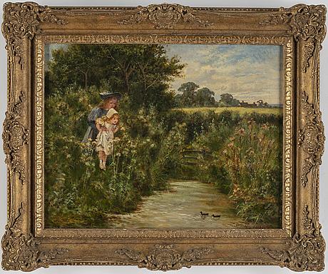 Ernest walbourn, oil on canvas, signed.