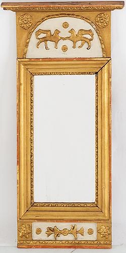 Spegel, empire, östhammar, signerad,