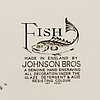 A part 'fish' earthenware dinner service, johnson bros, england (74 pieces).