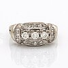 Ring 14k whitegold brilliant-cut diamonds and single-cut diamonds approx 0,68 ct.