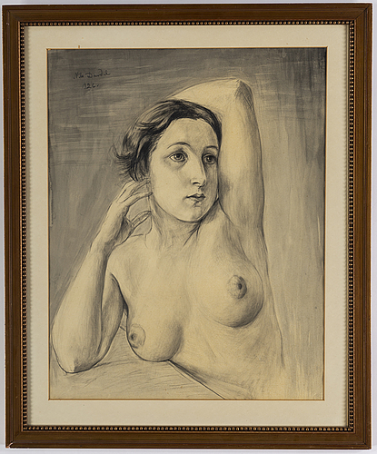 Nils von dardel, pencil drawing, signed and dated 1926.