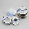 "A danish bing & gröndahl, 23 pieces ""blue seagull"" coffee service."